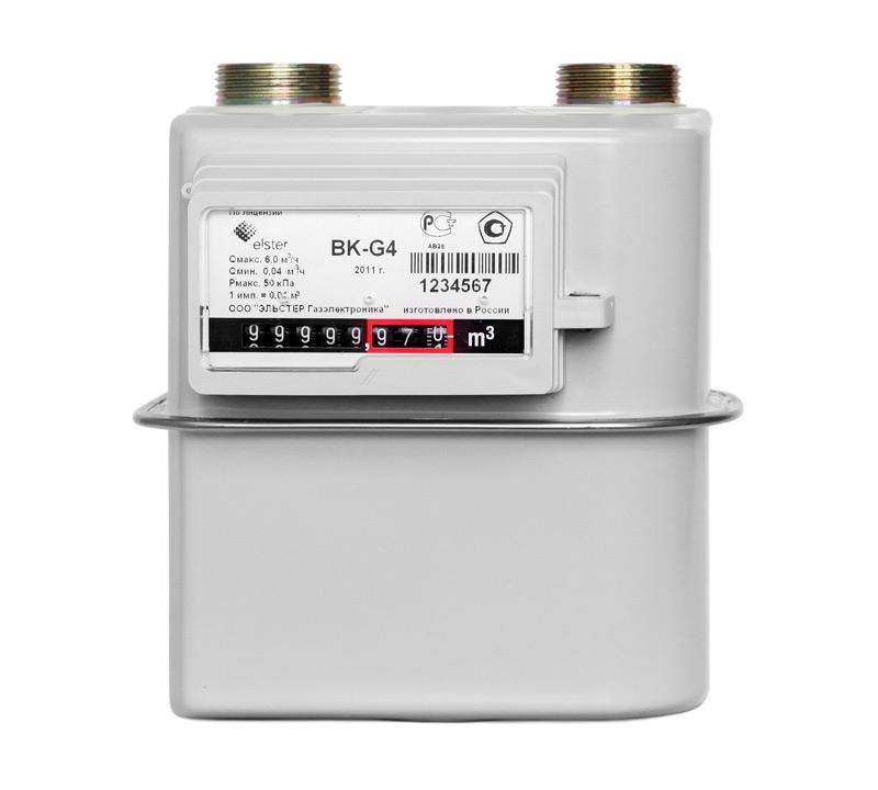 Счетчик газовый бытовой ВК G-10